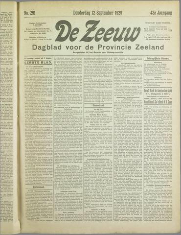 De Zeeuw. Christelijk-historisch nieuwsblad voor Zeeland 1929-09-12
