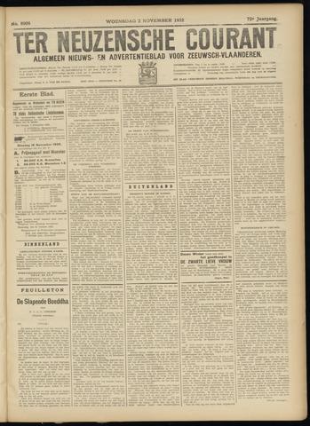 Ter Neuzensche Courant. Algemeen Nieuws- en Advertentieblad voor Zeeuwsch-Vlaanderen / Neuzensche Courant ... (idem) / (Algemeen) nieuws en advertentieblad voor Zeeuwsch-Vlaanderen 1932-11-02