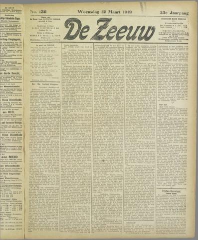 De Zeeuw. Christelijk-historisch nieuwsblad voor Zeeland 1919-03-12
