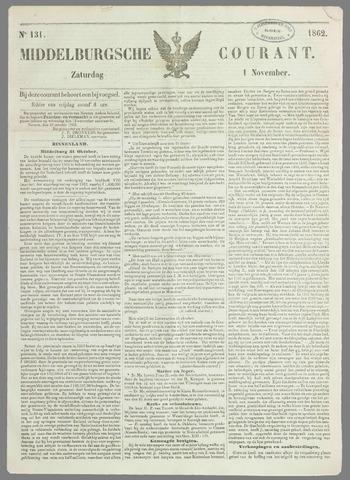 Middelburgsche Courant 1862-11-01