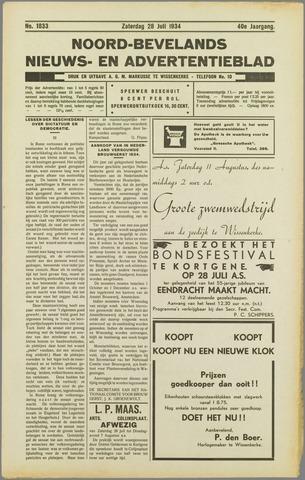 Noord-Bevelands Nieuws- en advertentieblad 1934-07-18