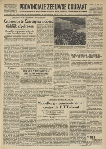 Provinciale Zeeuwse Courant 1951-07-13