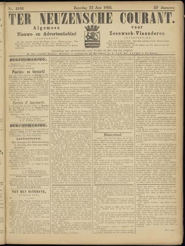 Ter Neuzensche Courant. Algemeen Nieuws- en Advertentieblad voor Zeeuwsch-Vlaanderen / Neuzensche Courant ... (idem) / (Algemeen) nieuws en advertentieblad voor Zeeuwsch-Vlaanderen 1895-06-22