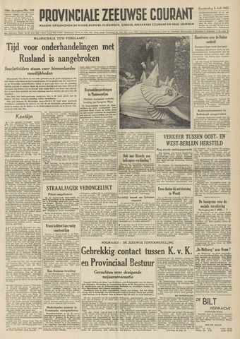 Provinciale Zeeuwse Courant 1953-07-09