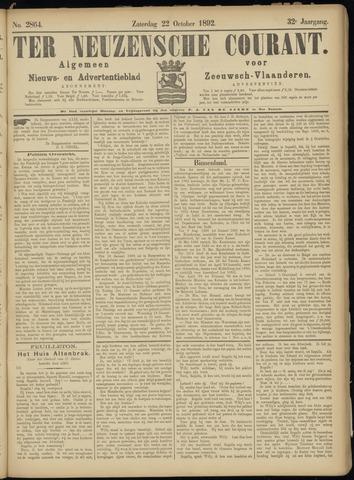 Ter Neuzensche Courant. Algemeen Nieuws- en Advertentieblad voor Zeeuwsch-Vlaanderen / Neuzensche Courant ... (idem) / (Algemeen) nieuws en advertentieblad voor Zeeuwsch-Vlaanderen 1892-10-22