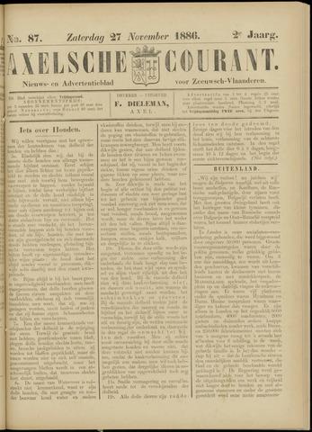 Axelsche Courant 1886-11-27
