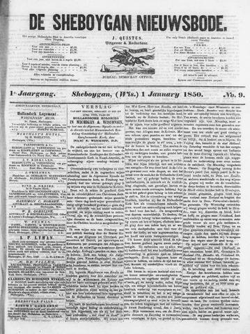 Sheboygan Nieuwsbode 1850