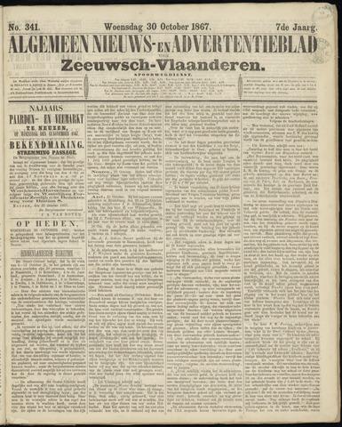 Ter Neuzensche Courant. Algemeen Nieuws- en Advertentieblad voor Zeeuwsch-Vlaanderen / Neuzensche Courant ... (idem) / (Algemeen) nieuws en advertentieblad voor Zeeuwsch-Vlaanderen 1867-10-30