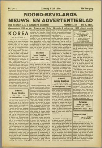 Noord-Bevelands Nieuws- en advertentieblad 1950-07-08