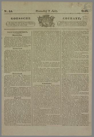 Goessche Courant 1845-07-07