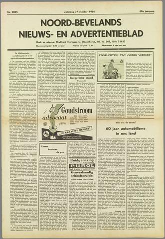 Noord-Bevelands Nieuws- en advertentieblad 1956-10-27