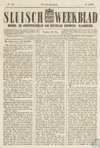 Sluisch Weekblad. Nieuws- en advertentieblad voor Westelijk Zeeuwsch-Vlaanderen 1866-05-25