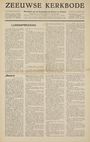 Zeeuwsche kerkbode, weekblad gewijd aan de belangen der gereformeerde kerken/ Zeeuwsch kerkblad 1957-03-01