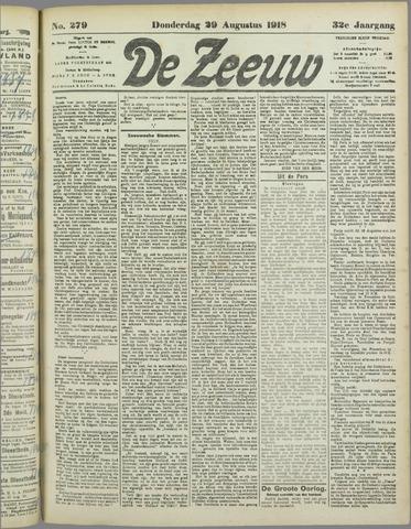 De Zeeuw. Christelijk-historisch nieuwsblad voor Zeeland 1918-08-29