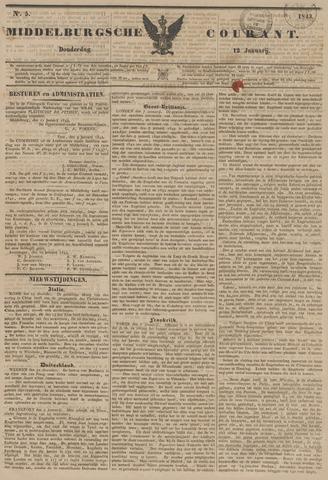 Middelburgsche Courant 1843-01-12