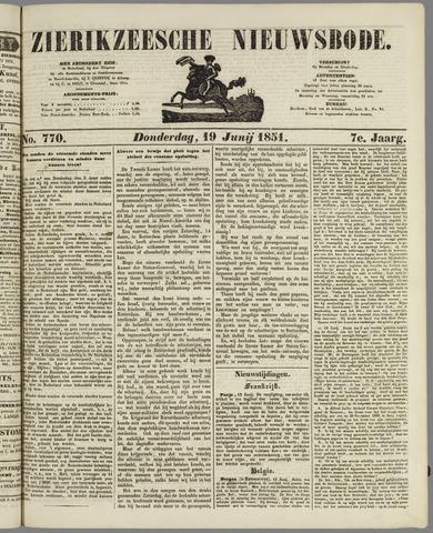 Zierikzeesche Nieuwsbode 1851-06-19