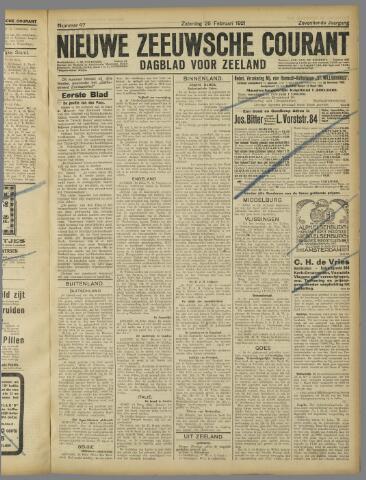Nieuwe Zeeuwsche Courant 1921-02-26