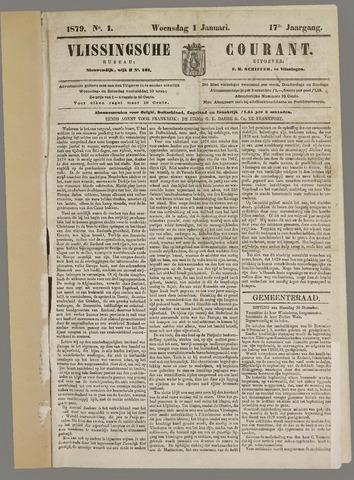 Vlissingse Courant 1879