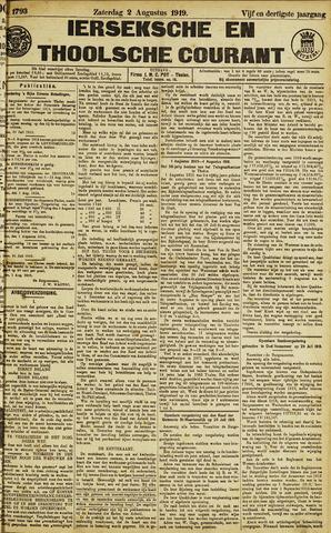 Ierseksche en Thoolsche Courant 1919-08-02