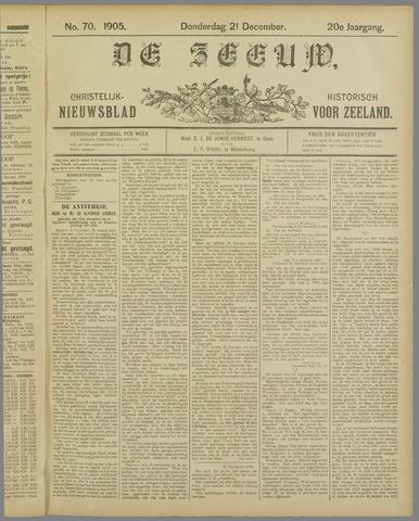 De Zeeuw. Christelijk-historisch nieuwsblad voor Zeeland 1905-12-21