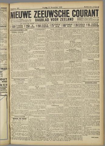 Nieuwe Zeeuwsche Courant 1922-11-10