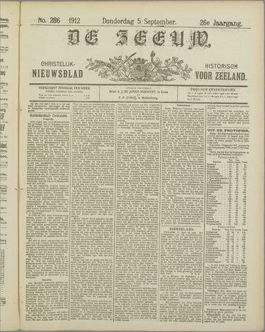 De Zeeuw. Christelijk-historisch nieuwsblad voor Zeeland 1912-09-05