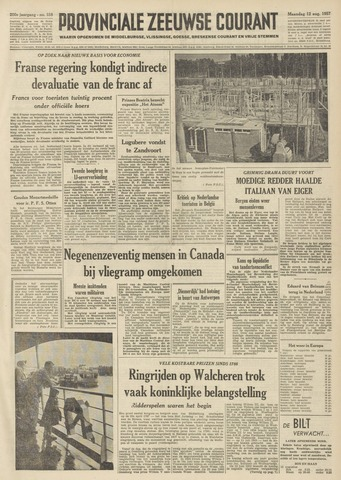 Provinciale Zeeuwse Courant 1957-08-12