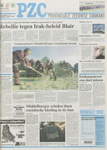 Provinciale Zeeuwse Courant 2003-02-27