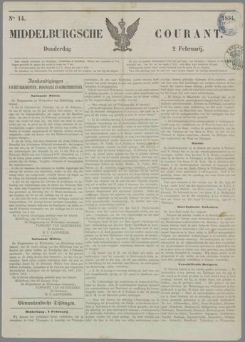Middelburgsche Courant 1854-02-02
