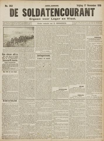 De Soldatencourant. Orgaan voor Leger en Vloot 1916-11-17
