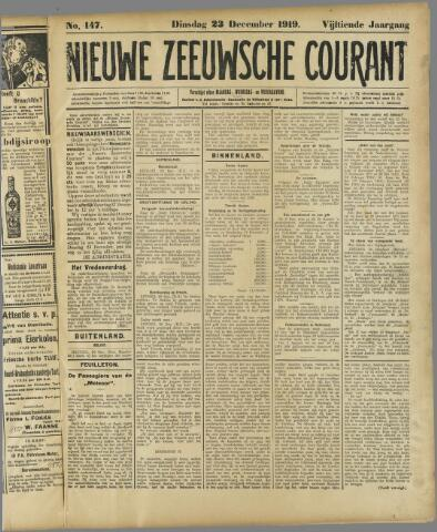 Nieuwe Zeeuwsche Courant 1919-12-23