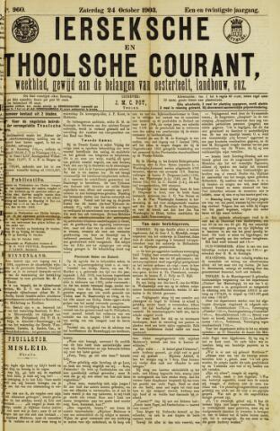 Ierseksche en Thoolsche Courant 1903-10-24