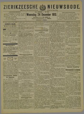 Zierikzeesche Nieuwsbode 1913-12-24
