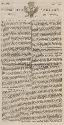 Middelburgsche Courant 1771-09-21