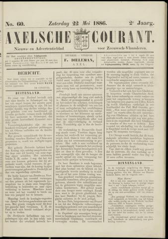 Axelsche Courant 1886-05-22