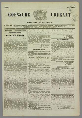 Goessche Courant 1853-12-29