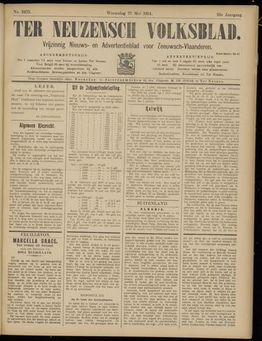 Ter Neuzensch Volksblad. Vrijzinnig nieuws- en advertentieblad voor Zeeuwsch- Vlaanderen / Zeeuwsch Nieuwsblad. Nieuws- en advertentieblad voor Zeeland 1914-05-27