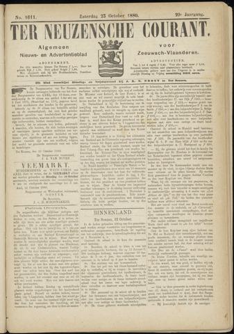 Ter Neuzensche Courant. Algemeen Nieuws- en Advertentieblad voor Zeeuwsch-Vlaanderen / Neuzensche Courant ... (idem) / (Algemeen) nieuws en advertentieblad voor Zeeuwsch-Vlaanderen 1880-10-23