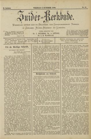Zuider Kerkbode, Weekblad gewijd aan de belangen der gereformeerde kerken in Zeeland, Noord-Brabant en Limburg. 1899-10-06