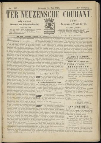 Ter Neuzensche Courant. Algemeen Nieuws- en Advertentieblad voor Zeeuwsch-Vlaanderen / Neuzensche Courant ... (idem) / (Algemeen) nieuws en advertentieblad voor Zeeuwsch-Vlaanderen 1880-07-24
