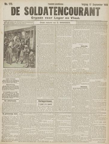 De Soldatencourant. Orgaan voor Leger en Vloot 1915-09-17