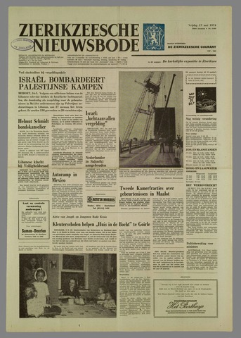 Zierikzeesche Nieuwsbode 1974-05-17