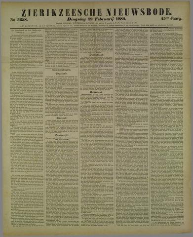 Zierikzeesche Nieuwsbode 1889-02-19