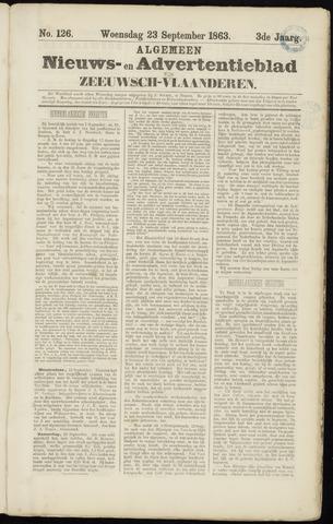 Ter Neuzensche Courant. Algemeen Nieuws- en Advertentieblad voor Zeeuwsch-Vlaanderen / Neuzensche Courant ... (idem) / (Algemeen) nieuws en advertentieblad voor Zeeuwsch-Vlaanderen 1863-09-23