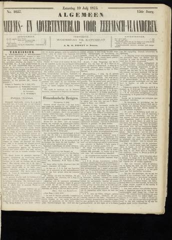 Ter Neuzensche Courant. Algemeen Nieuws- en Advertentieblad voor Zeeuwsch-Vlaanderen / Neuzensche Courant ... (idem) / (Algemeen) nieuws en advertentieblad voor Zeeuwsch-Vlaanderen 1875-07-10