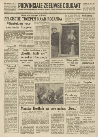 Provinciale Zeeuwse Courant 1961-01-20