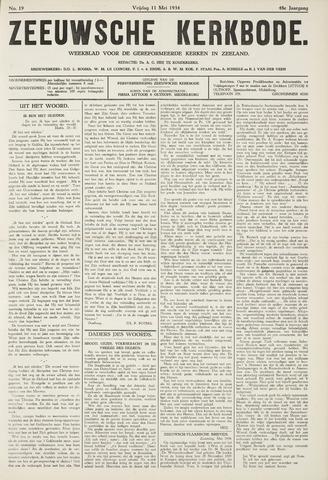 Zeeuwsche kerkbode, weekblad gewijd aan de belangen der gereformeerde kerken/ Zeeuwsch kerkblad 1934-05-11