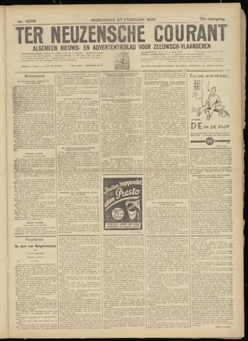 Ter Neuzensche Courant. Algemeen Nieuws- en Advertentieblad voor Zeeuwsch-Vlaanderen / Neuzensche Courant ... (idem) / (Algemeen) nieuws en advertentieblad voor Zeeuwsch-Vlaanderen 1935-02-27