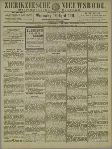 Zierikzeesche Nieuwsbode 1911-04-19