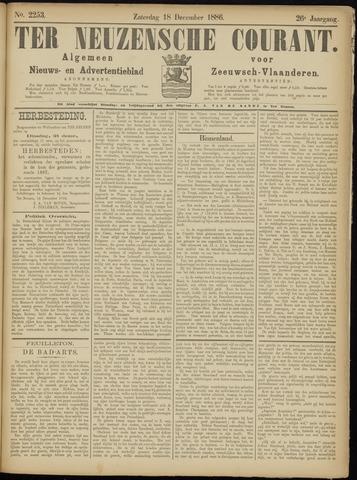 Ter Neuzensche Courant. Algemeen Nieuws- en Advertentieblad voor Zeeuwsch-Vlaanderen / Neuzensche Courant ... (idem) / (Algemeen) nieuws en advertentieblad voor Zeeuwsch-Vlaanderen 1886-12-18